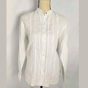 Ralph Lauren 100% Linen Shirt With Pintucks, M